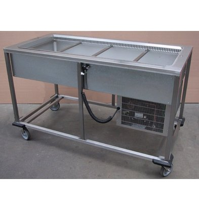 Mobile Containing Chilled Portioneerwagen | 4 x 1/1 GN | Mobile Containing