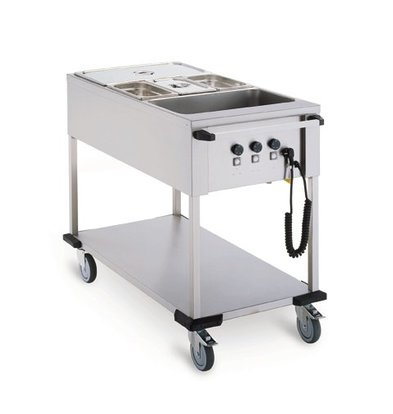 Mobile Containing Bain-Marie trolley 3 x 1/1 GN | Mobile Containing | 3x 850W | 560x1111x902mm