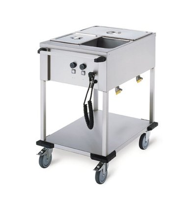 Mobile Containing Bain-Marie Wagen 2 x 1/1 GN | Mobile Containing | 2x 850W | 560x774x902mm