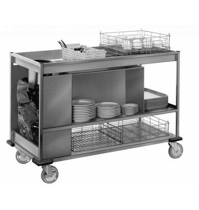 Mobile Containing Afruimwagen Klein | Mobile Containing | 520x1150x916(h)mm