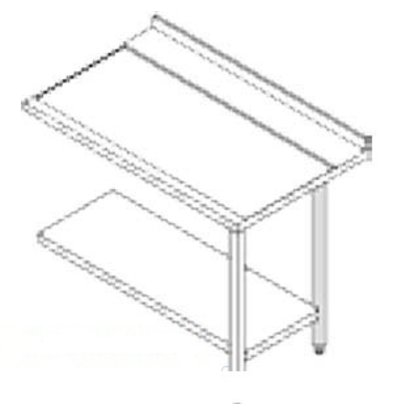 Rhima Stainless steel side table (right) | RHIMA 3000 0269