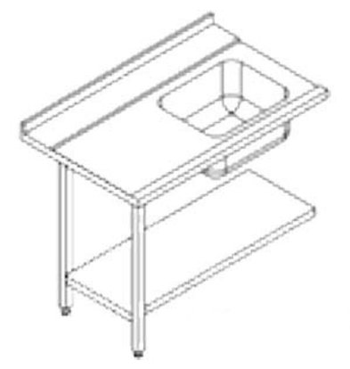 Rhima Stainless steel side table (Left) | RHIMA 3000 0272