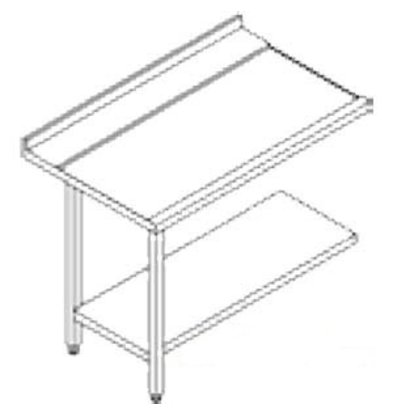 Rhima Stainless steel side table (Left) | RHIMA 3000 0270