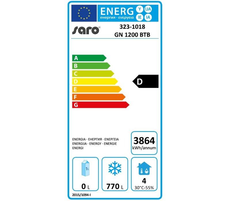Saro Vrieskast Professioneel - 1200 Liter - 134x81x(h)200cm - 2 Jaar garantie