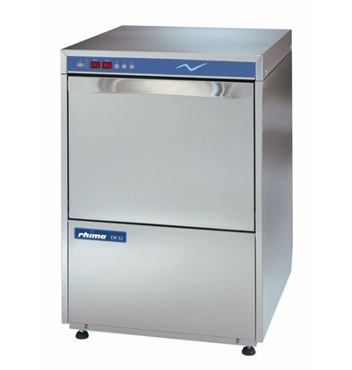 Rhima Dishwasher 50x50cm | RHIMA DR52E Plus | Incl. Break Tank and Naspoeldrukverhogingspomp | 400V