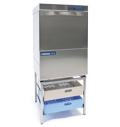 Rhima Dishwasher 50x50cm | RHIMA DR50 Plus | Choice 230 / 400V | Incl. Break Tank and Naspoeldrukverhogingspomp