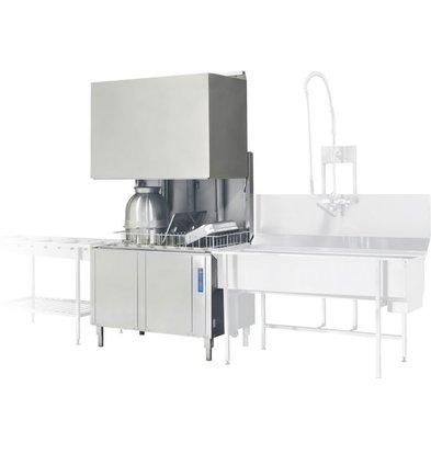 Rhima Pass-through dishwasher 50x50cm Rhima WD12GHE   400V   1200x770x1910 / 2420mm