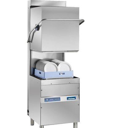 Rhima Pass-through dishwasher 50x50cm Rhima OPTIMA 600 HR PLUS   Incl. Energy-saving Steam Condenser Unit