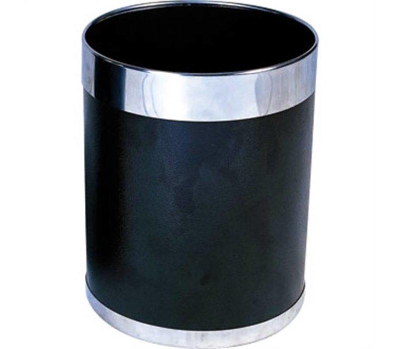 Bolero Prullenbak | Zilverkleurige Rand | 10ltr | 280(h)mm