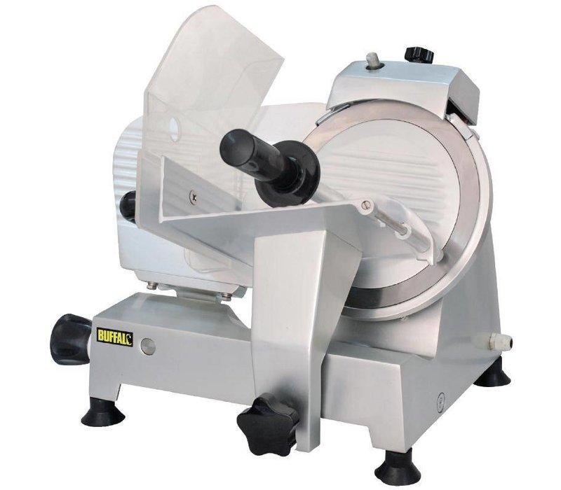 Buffalo Vleessnijmachine Aluminium 120W | Geïntegreerde Messenslijper | 22cm Mes