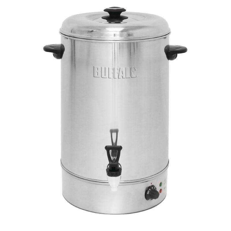 Buffalo Hot Water Dispenser Stainless Steel With Reset On Non Drip Faucet 30 Liter