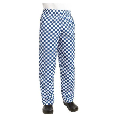 Chef Works Cooks Pants Checkered Blue / White   Chef Works Easyfit   cotton   Available in 6 sizes