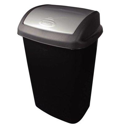 Curver Afvalbak + Schommeldeksel | Zwart | Curver | 25 Liter