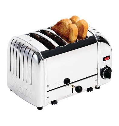 Dualit Toaster Dualit Stainless Steel   4 Slots   Up to 130 slices p / u
