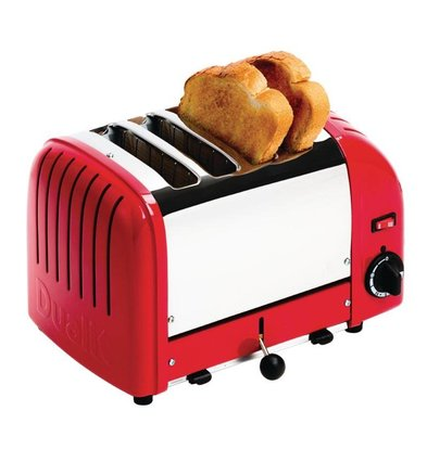 Dualit Toaster Dualit Red   4 slots   Up to 130 slices p / u