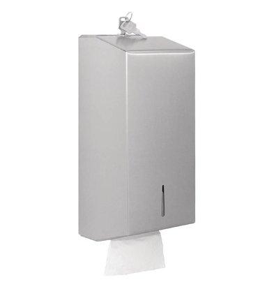 XXLselect Tissue Dispenser | Gepolijst RVS | 125x295x120(h)mm