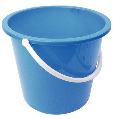 Jantex Emmer Plastic   10 Liter   Blauw