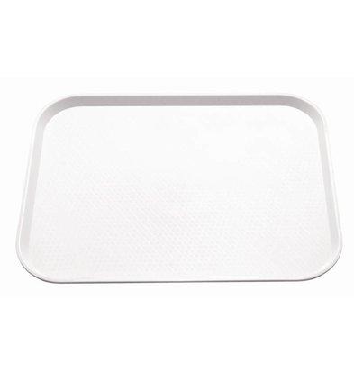 Kristallon Dienblad Ruw Oppervlak   Wit   415x305mm