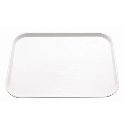 Kristallon Dienblad Ruw Oppervlak | Wit | 450x350mm