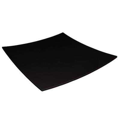 Kristallon Gebogen Vierkant Bord | Zwart Melamine | 310x310mm