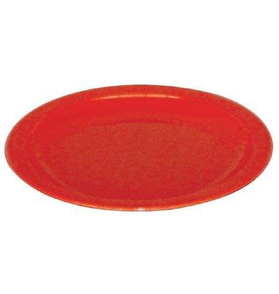 Kristallon Bord Rood | Polycarbonaat | Ø230mm | Per 12 Stuks