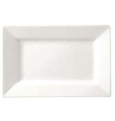 Lumina Fine China Bord Brede Rand | Lumina Wit Porselein | 250x150mm | 4 Stuks