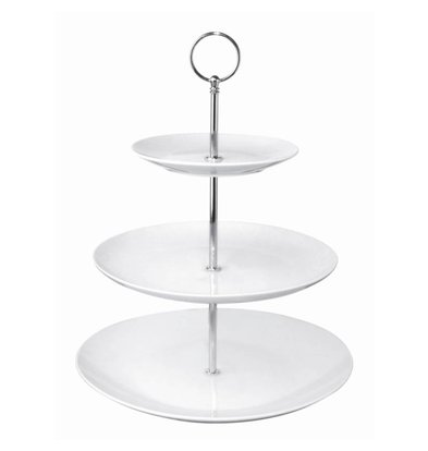 Olympia High Tea Etagere | 3 Porseleinen Borden | Ø152/229/270x341(h)mm