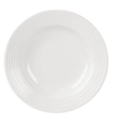 Olympia Pastabord | Linear Wit Porselein | 230mm | 12 Stuks