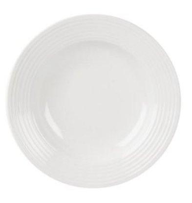 Olympia Pastabord | Linear Wit Porselein | 310mm | 6 Stuks