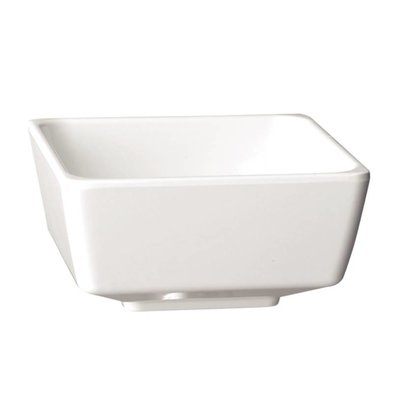 APS Float Vierkante Kom | Wit Melamine | 130mm
