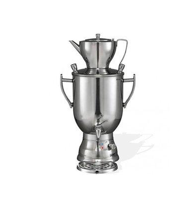 XXLselect BEEM Samovar Trendy 3008C - Theezetapparaat / Waterkoker - RVS - chroom - 8 Liter