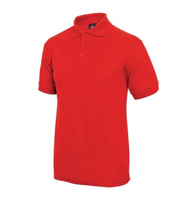 XXLselect Poloshirt Korte Mouw   Rood   Katoen   Beschikbaar in 4 Maten