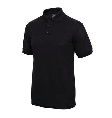 XXLselect Poloshirt Korte Mouw   Zwart   Katoen   Beschikbaar in 4 Maten