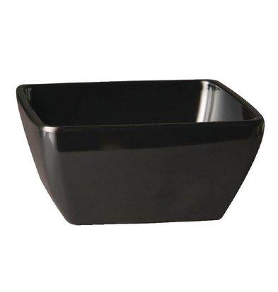 APS Pure Vierkante Kom | Zwart Melamine | 125x125mm