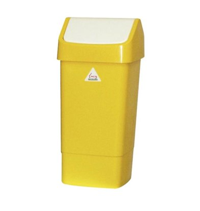 SYR Waste bin with Swing lid 50 liters Yellow