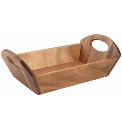 T&G Woodware Broodschaal | Bruin Hout | 310x180x100(h)mm