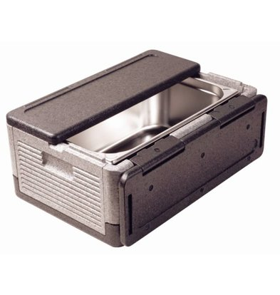 Thermo Future Thermo Future Box Zwart | Opklapbaar GN1/1 | 38 Liter
