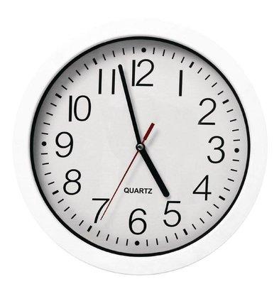 Vogue Kitchen Clock | White ABS | Ø240mm