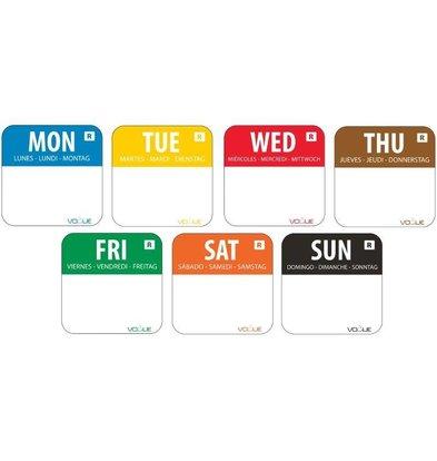 Vogue Kleurcode Weekset | Dagstickers | 7000 Stickers