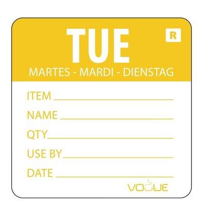 Vogue Kleurcode-Sticker Dinsdag | Geel | per 500