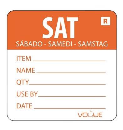 Vogue Kleurcode-Sticker Zaterdag | Oranje | per 500