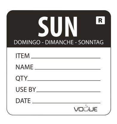 Vogue Kleurcode-Sticker Zondag | Zwart | per 500