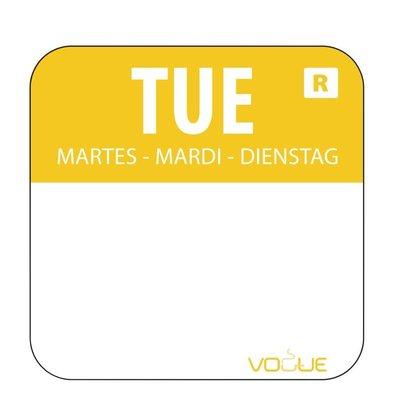 Vogue Kleurcode-Stickers Dinsdag | Geel | per 1000