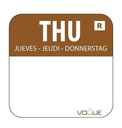 Vogue Kleurcode-Stickers Donderdag | Bruin | per 1000