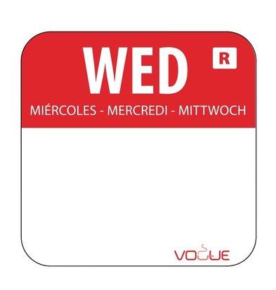 Vogue Kleurcode-Stickers Woensdag | Rood | per 1000