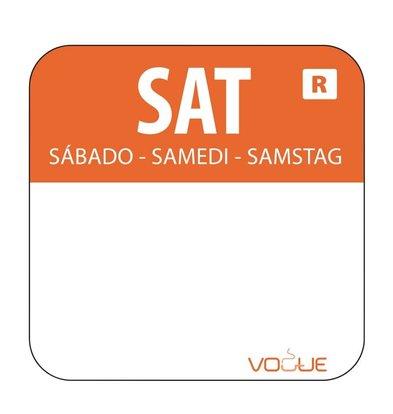 Vogue Kleurcode-Stickers Zaterdag | Oranje | per 1000