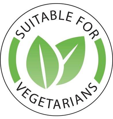 "Vogue Stickers ""Vegetarian""   Rol 1000 Stuks"