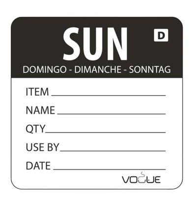 Vogue Kleurcode Sticker Zondag | Oplosbaar | Rol 250 Stuks