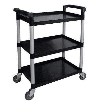 Vogue Serving trolley Black PP | 3 Sheets | up to 130 kg