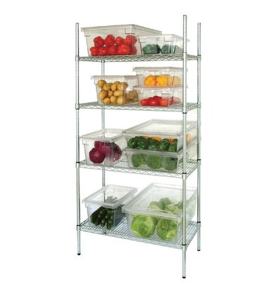 Vogue Stock Row 4 Shelf | Galvanized Zinc | 915x457x1830 (h) mm